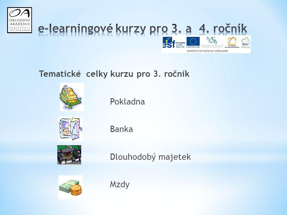 e-learningové kurzy pro 3. a 4. ročník