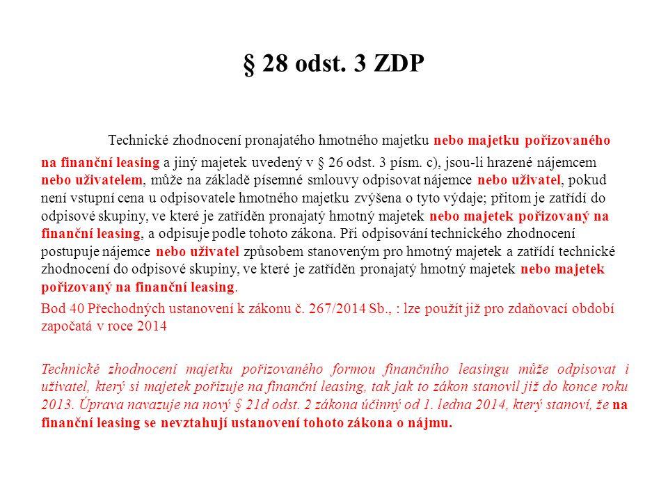 § 28 odst. 3 ZDP