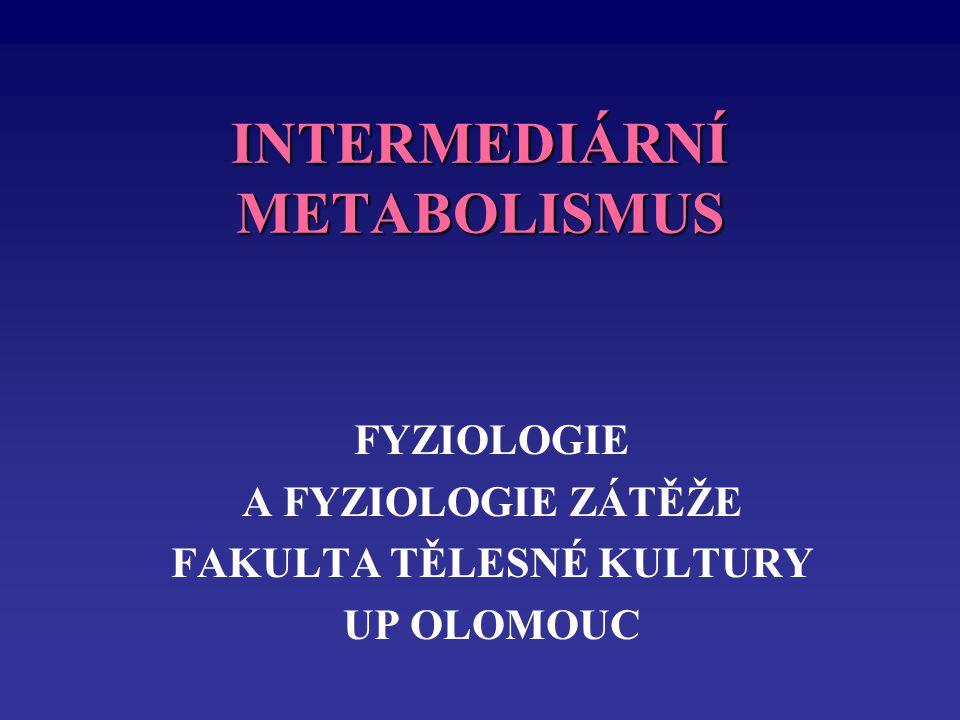 INTERMEDIÁRNÍ METABOLISMUS