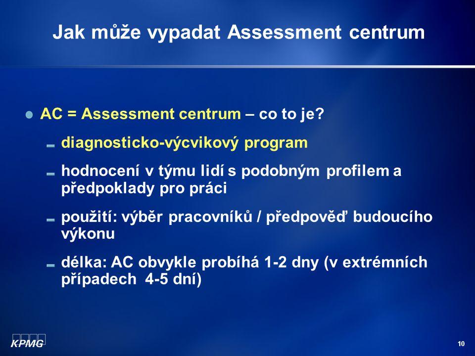 Jak může vypadat Assessment centrum