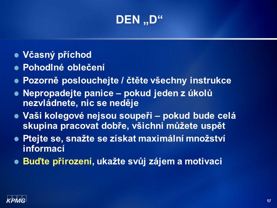 """DEN """"D Včasný příchod Pohodlné oblečení"""