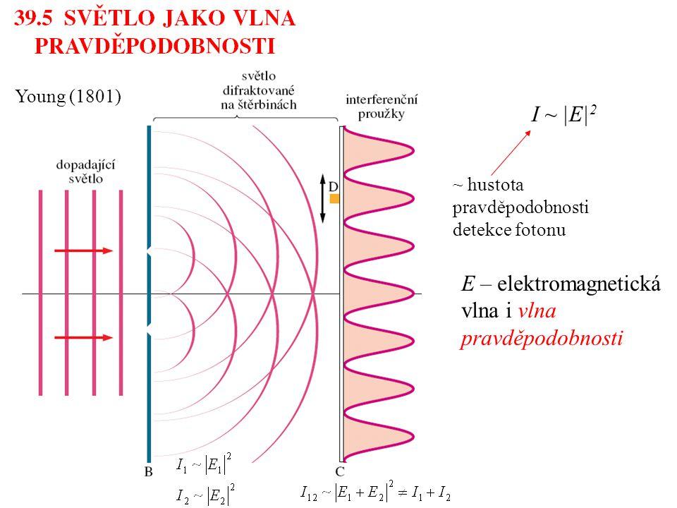 E – elektromagnetická vlna i vlna pravděpodobnosti