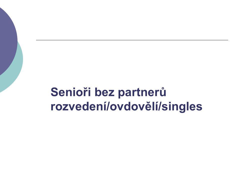 Senioři bez partnerů rozvedení/ovdovělí/singles