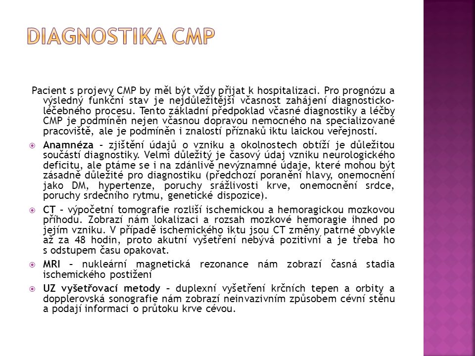 Diagnostika CMP