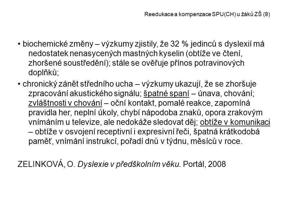 Reedukace a kompenzace SPU(CH) u žáků ZŠ (9)