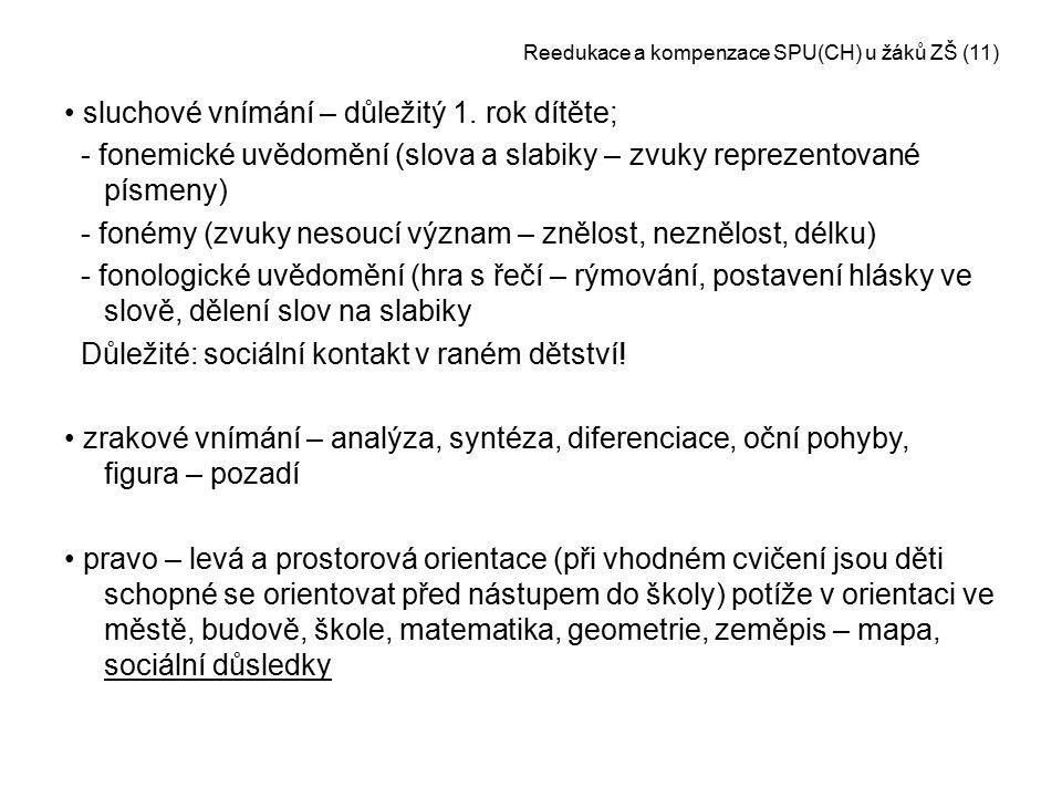 Reedukace a kompenzace SPU(CH) u žáků ZŠ (11)