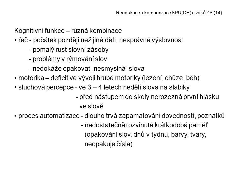 Reedukace a kompenzace SPU(CH) u žáků ZŠ (14)