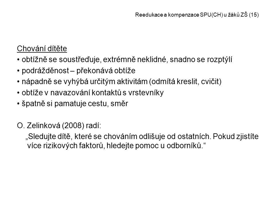 Reedukace a kompenzace SPU(CH) u žáků ZŠ (15)