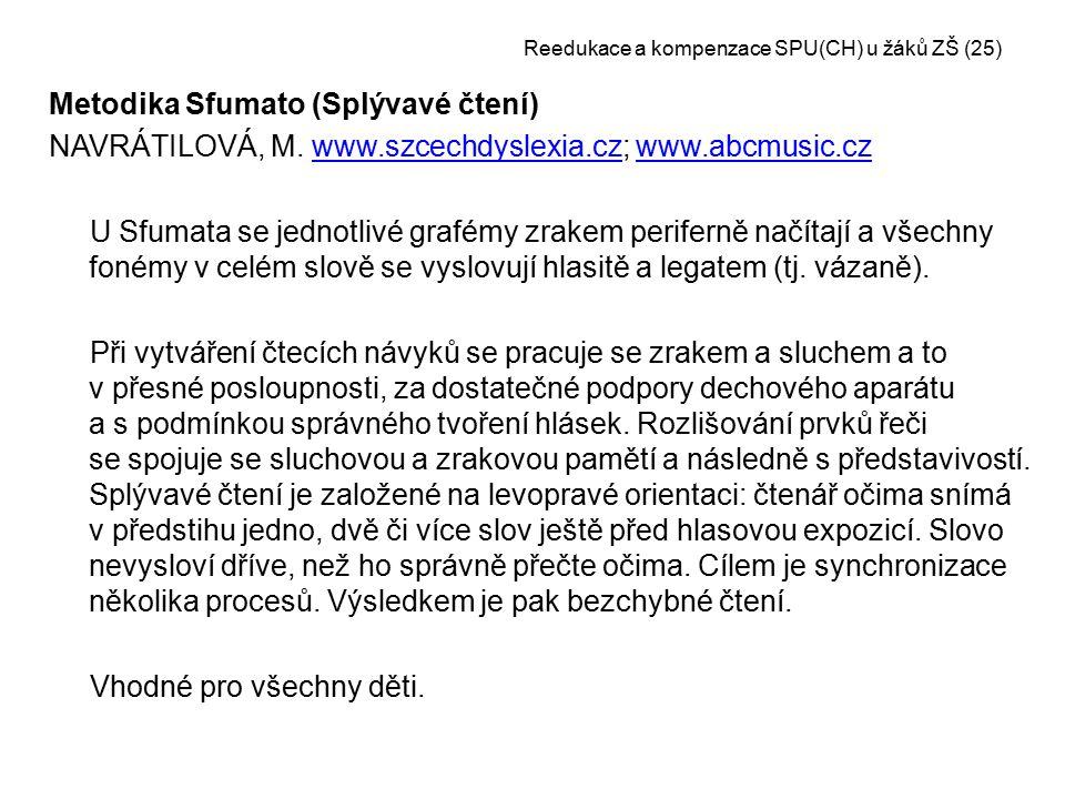 Reedukace a kompenzace SPU(CH) u žáků ZŠ (25)