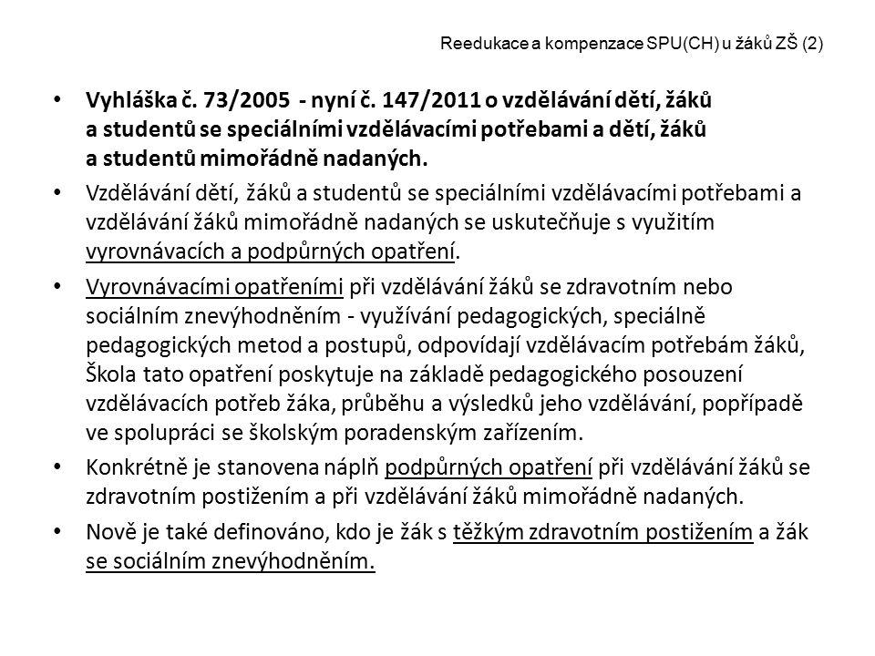 Reedukace a kompenzace SPU(CH) u žáků ZŠ (2)