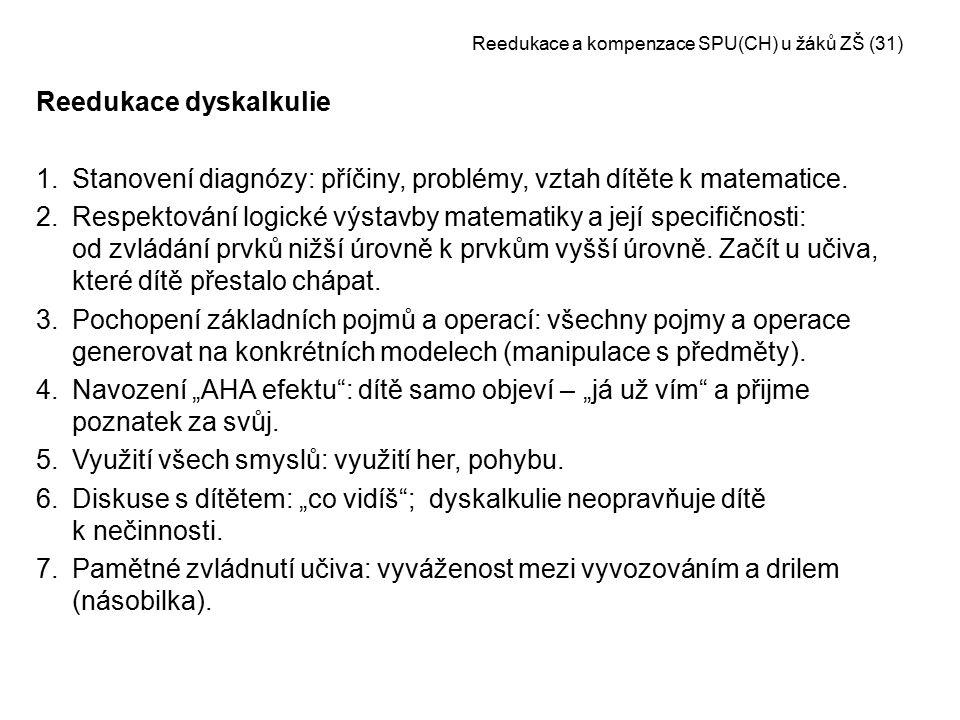 Reedukace a kompenzace SPU(CH) u žáků ZŠ (31)