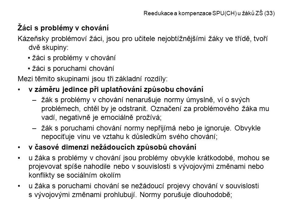 Reedukace a kompenzace SPU(CH) u žáků ZŠ (33)