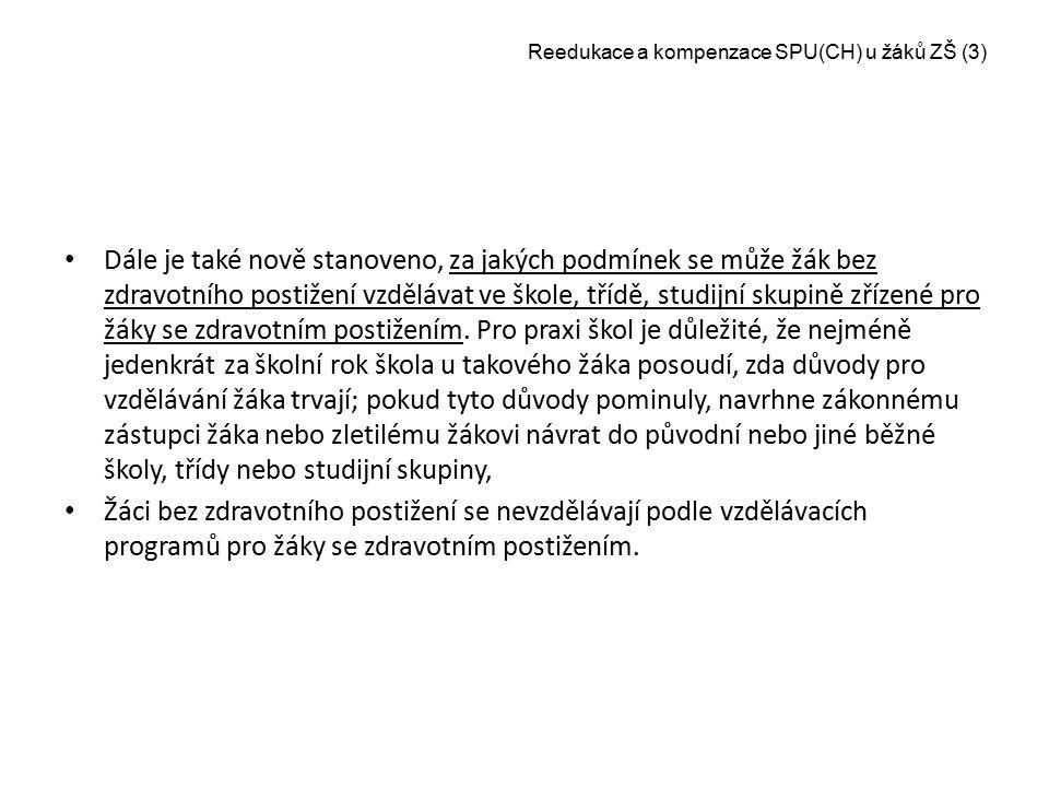 Reedukace a kompenzace SPU(CH) u žáků ZŠ (3)
