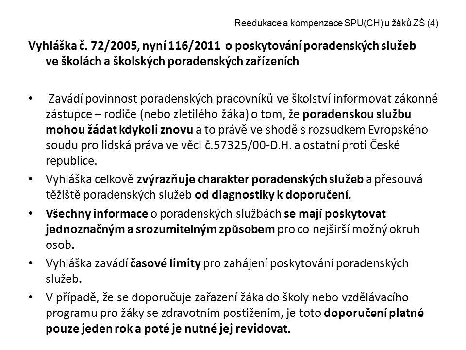 Reedukace a kompenzace SPU(CH) u žáků ZŠ (4)