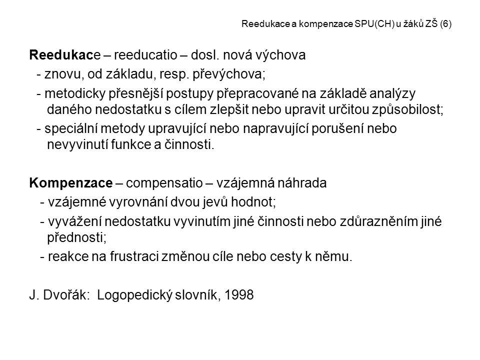Reedukace a kompenzace SPU(CH) u žáků ZŠ (6)