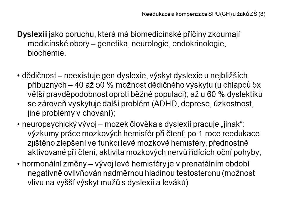 Reedukace a kompenzace SPU(CH) u žáků ZŠ (8)