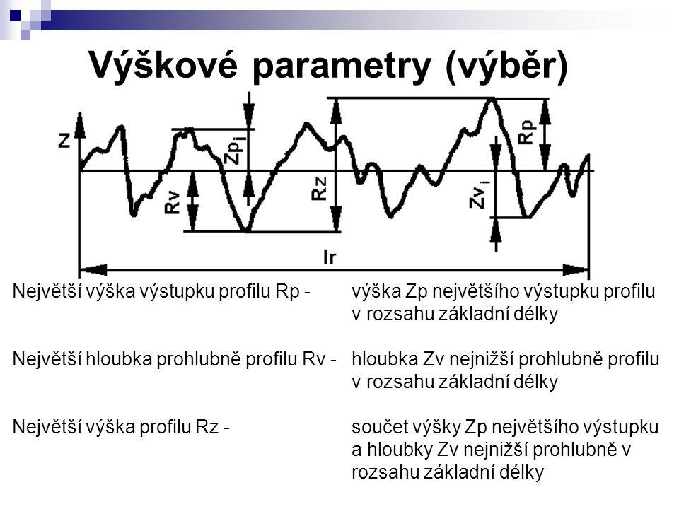 Výškové parametry (výběr)