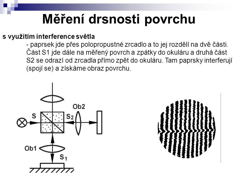 Měření drsnosti povrchu