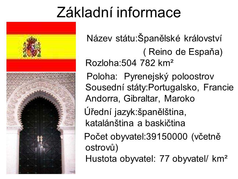 Základní informace Název státu:Španělské království