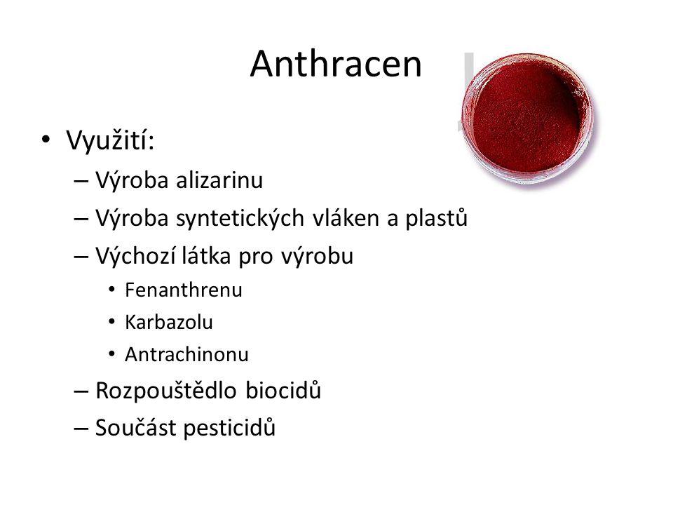 Anthracen Využití: Výroba alizarinu