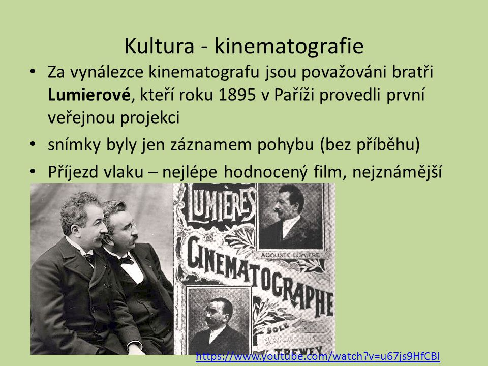 Kultura - kinematografie
