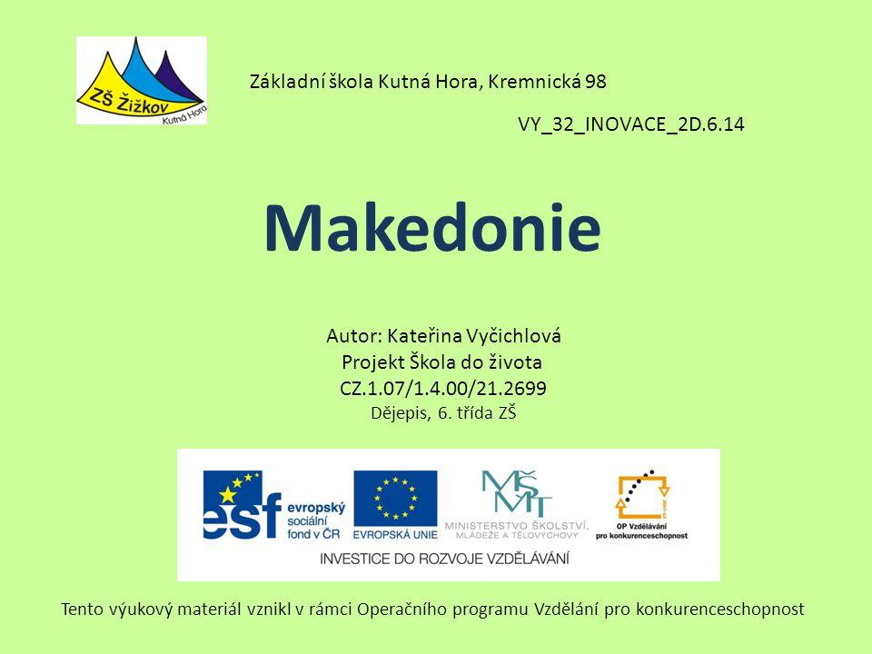 Makedonie Základní škola Kutná Hora, Kremnická 98