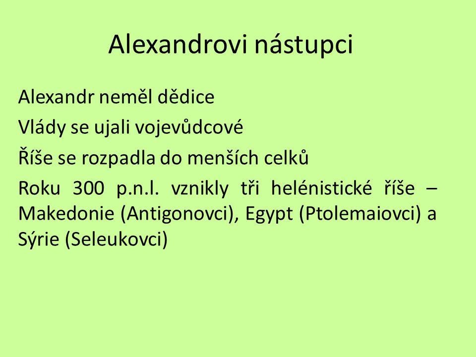 Alexandrovi nástupci