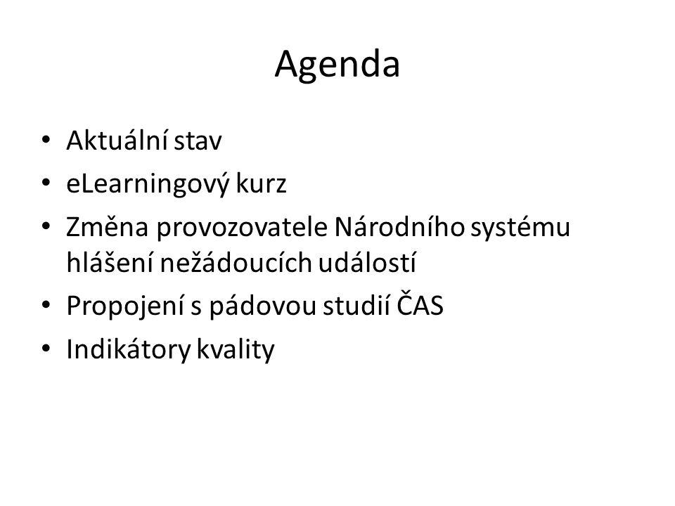 Agenda Aktuální stav eLearningový kurz