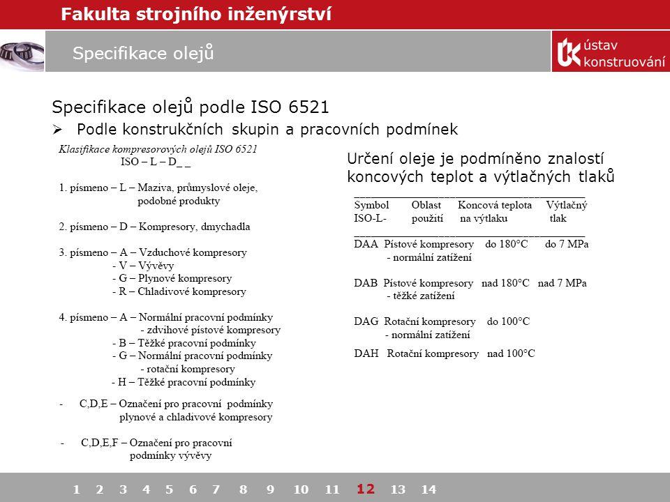 Specifikace olejů podle ISO 6521