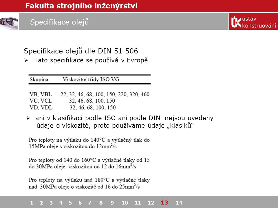 Specifikace olejů dle DIN 51 506