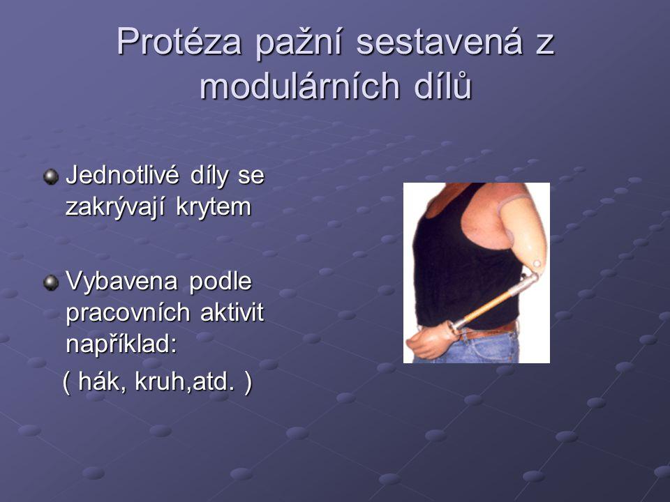 Protéza pažní sestavená z modulárních dílů