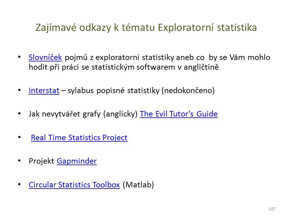 Zajímavé odkazy k tématu Exploratorní statistika