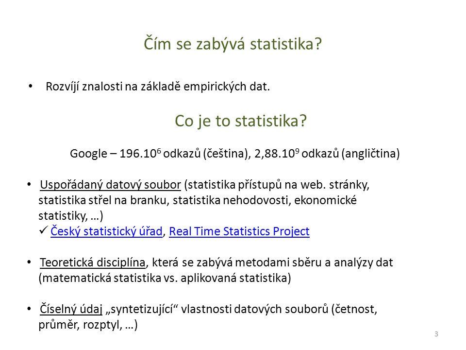 Čím se zabývá statistika