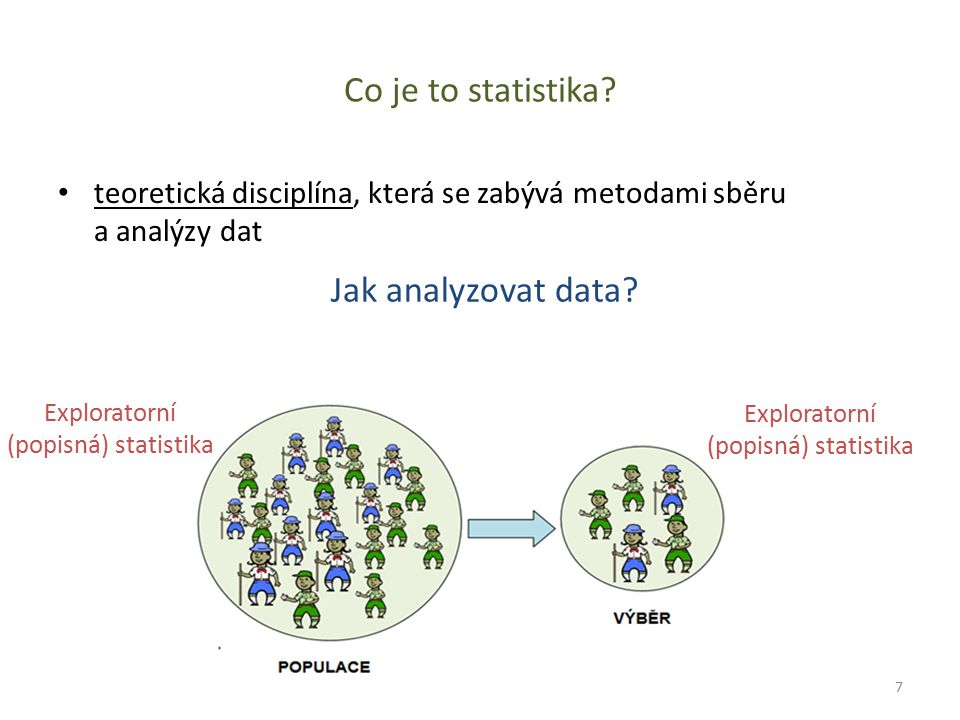 Co je to statistika Jak analyzovat data