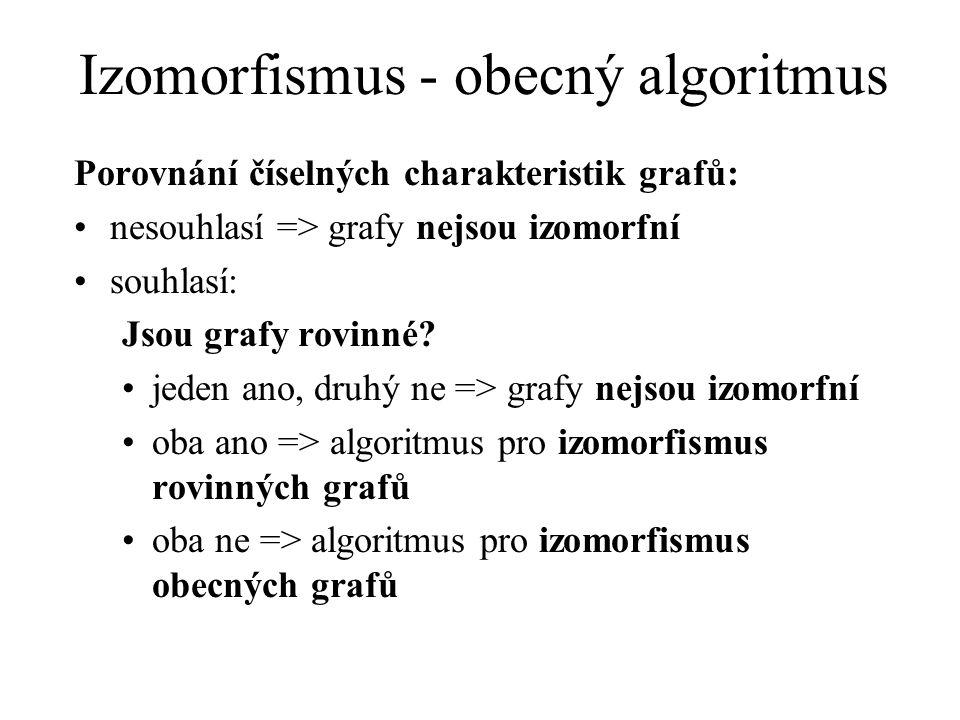 Izomorfismus - obecný algoritmus