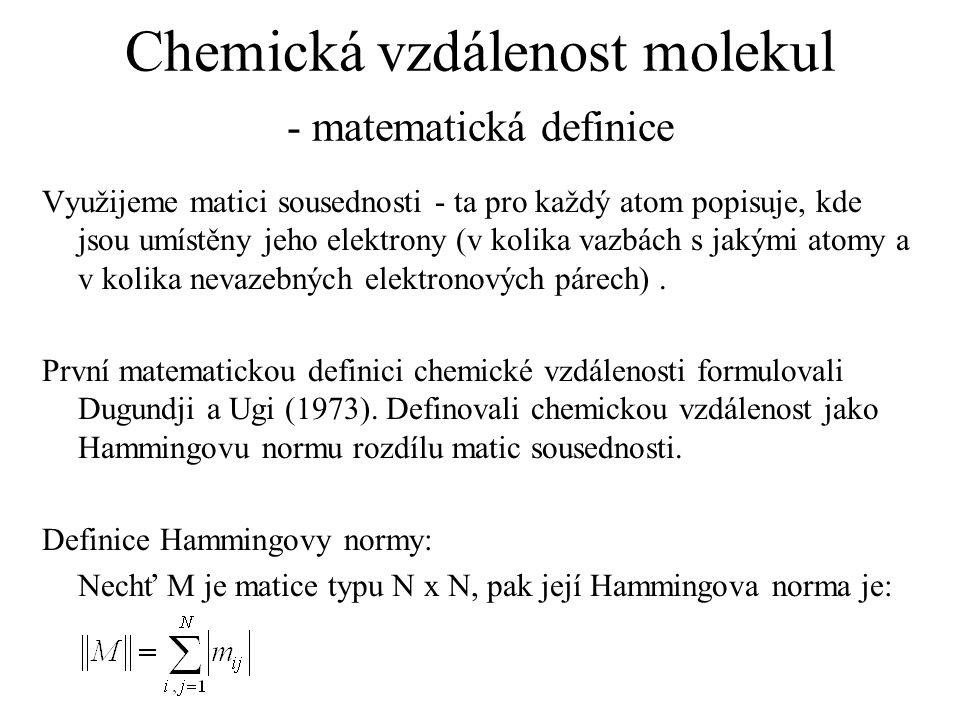 Chemická vzdálenost molekul - matematická definice