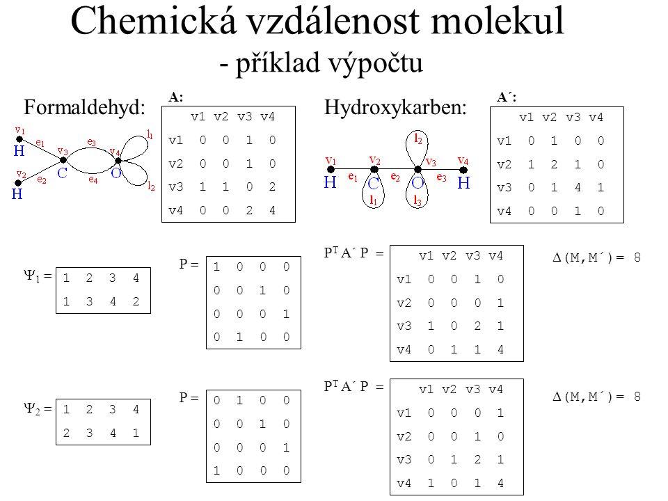 Chemická vzdálenost molekul - příklad výpočtu
