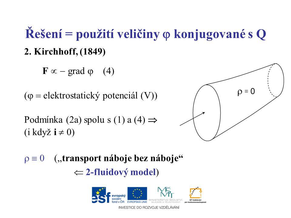 Řešení = použití veličiny  konjugované s Q