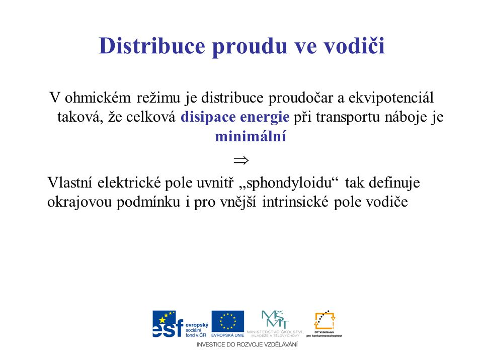 Distribuce proudu ve vodiči