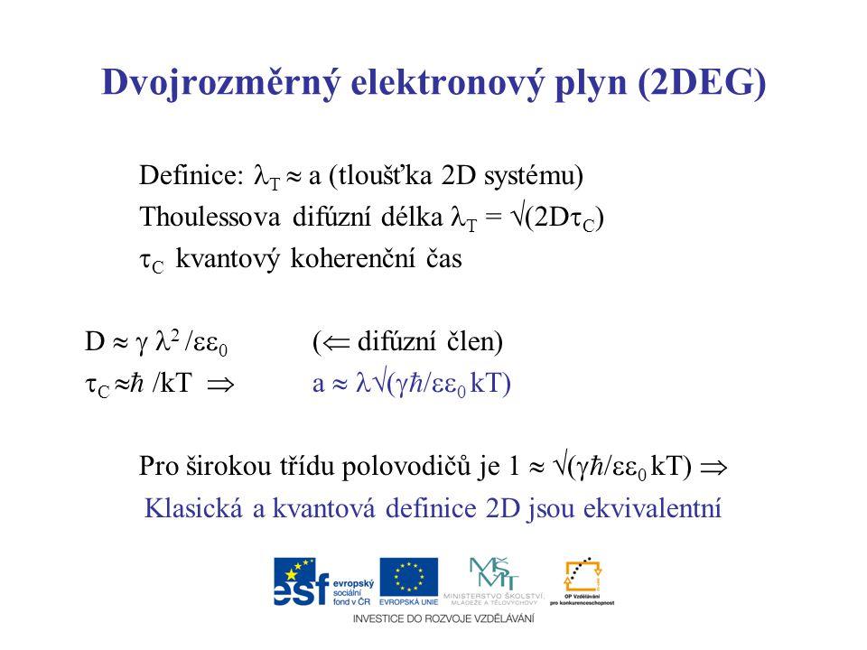 Dvojrozměrný elektronový plyn (2DEG)