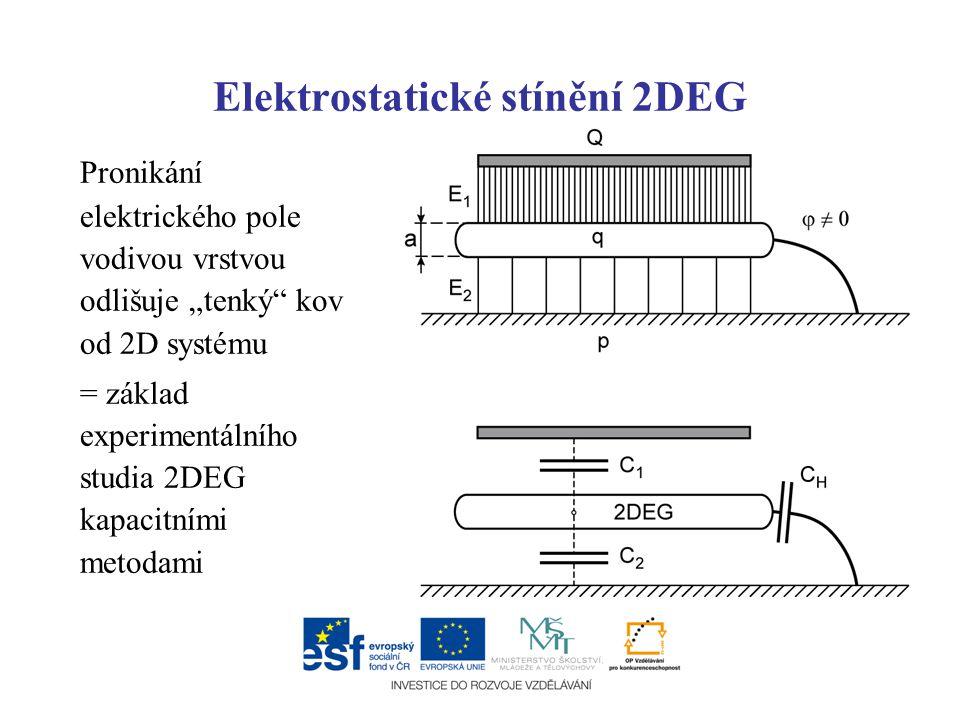 Elektrostatické stínění 2DEG