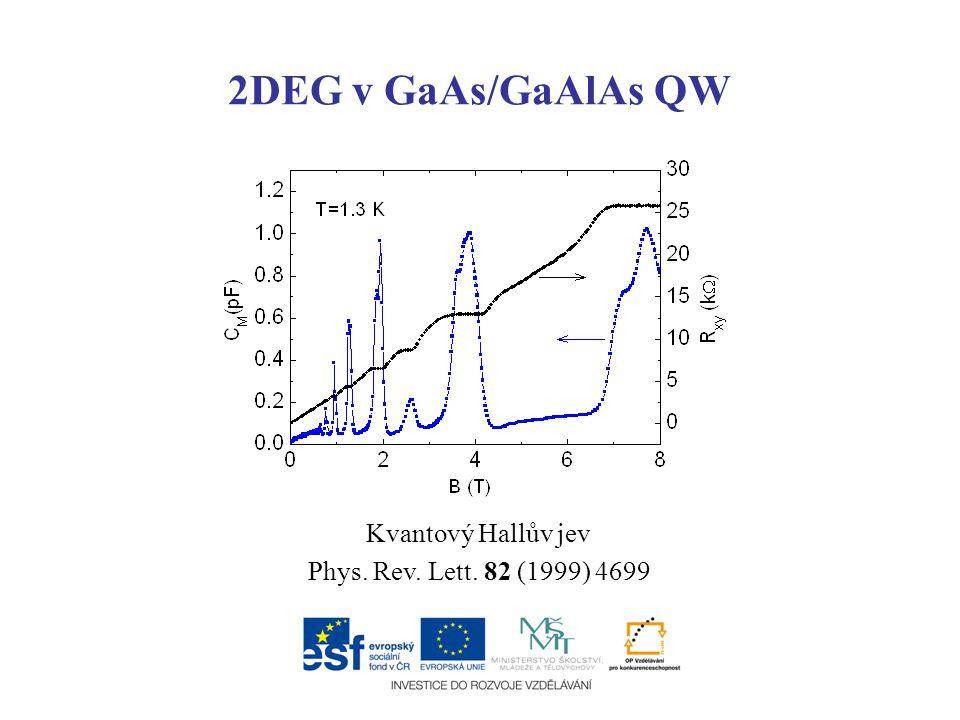 2DEG v GaAs/GaAlAs QW Kvantový Hallův jev