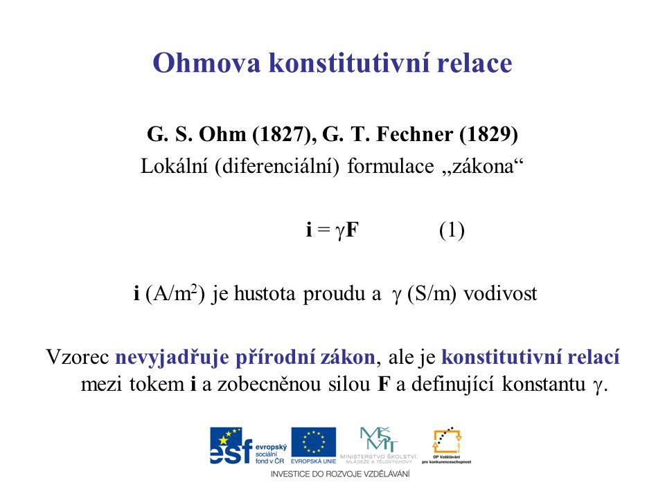Ohmova konstitutivní relace