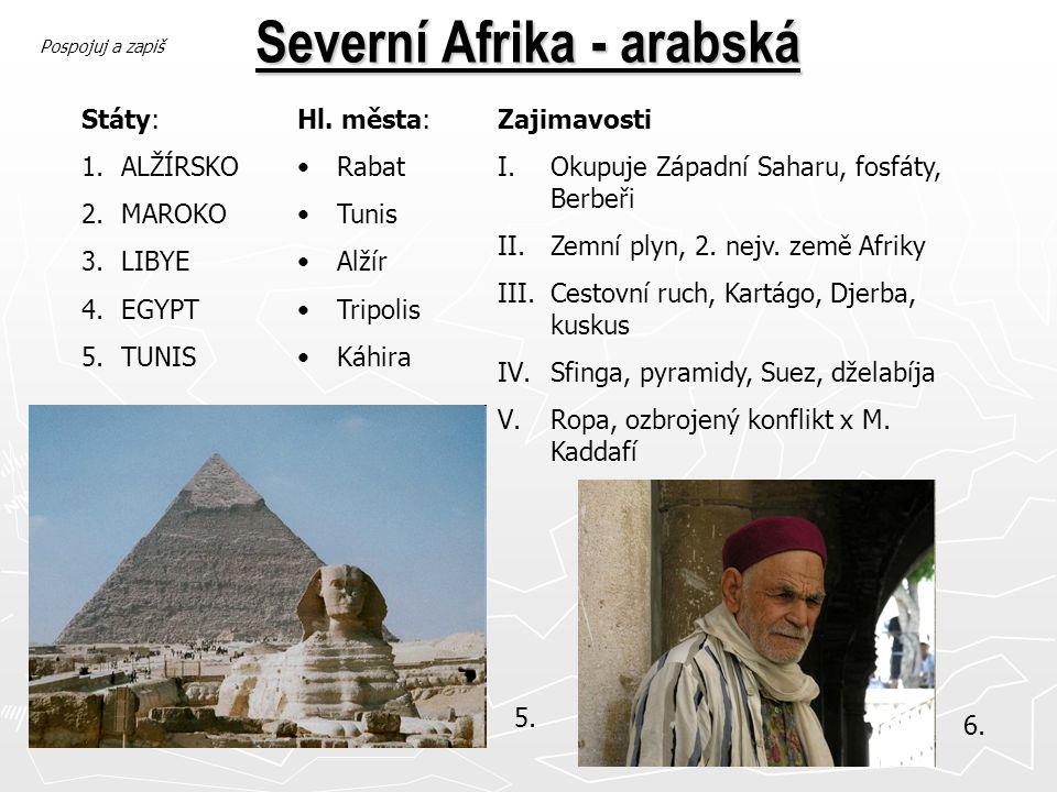 Severní Afrika - arabská