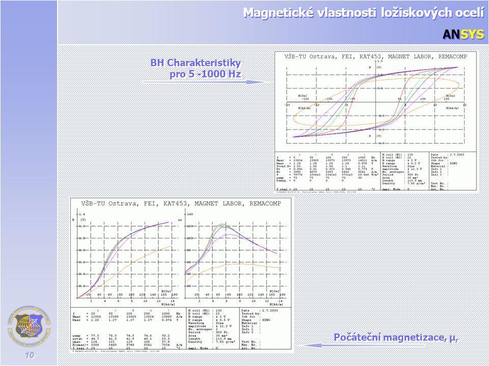 Magnetické vlastnosti ložiskových ocelí ANSYS