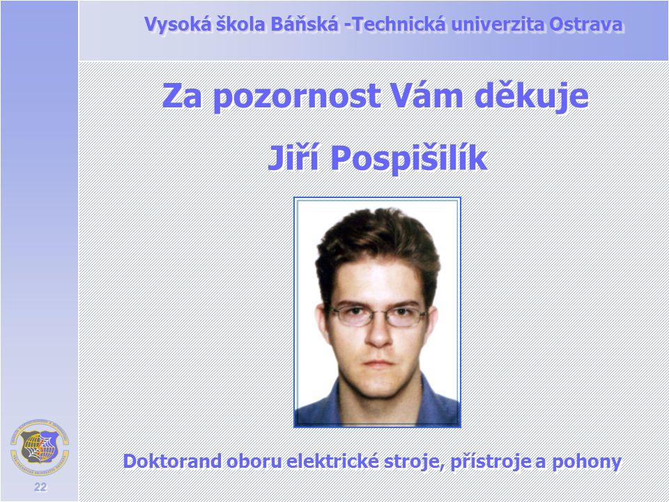 Doktorand oboru elektrické stroje, přístroje a pohony