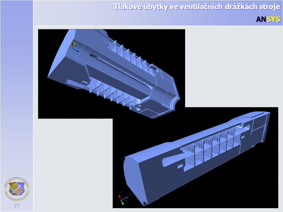 Tlakové úbytky ve ventilačních drážkách stroje