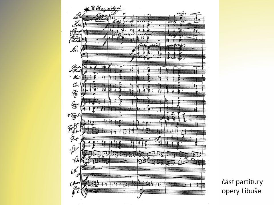 část partitury opery Libuše