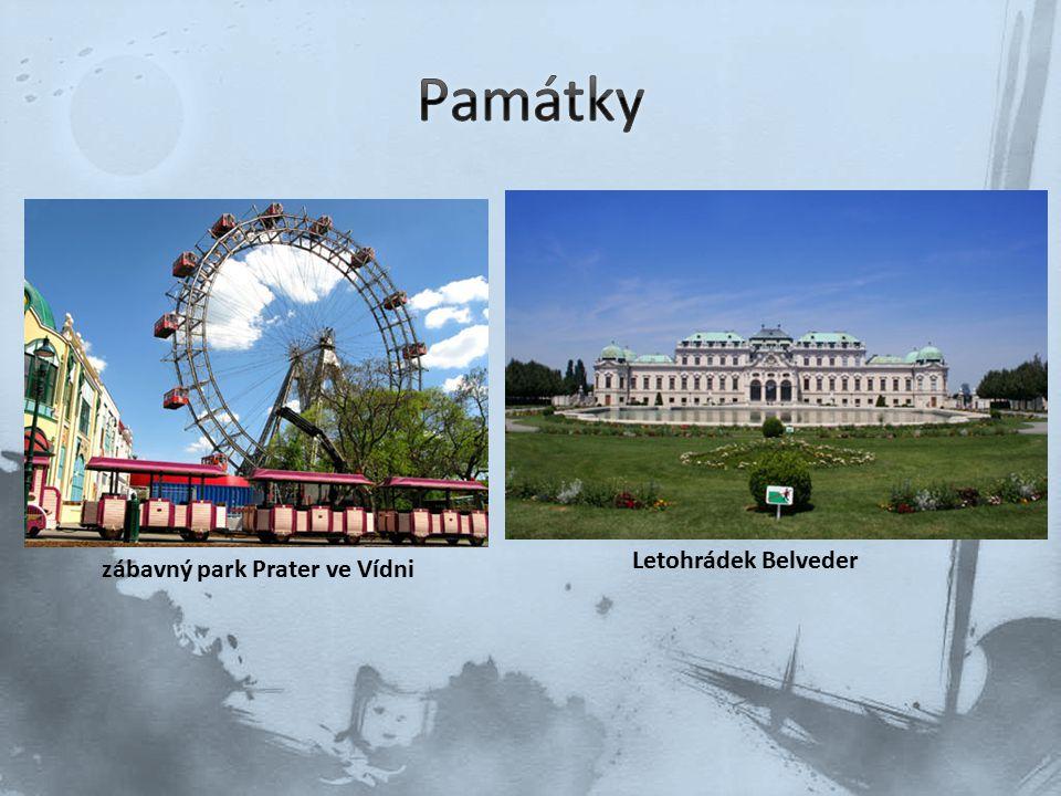 Památky Letohrádek Belveder zábavný park Prater ve Vídni