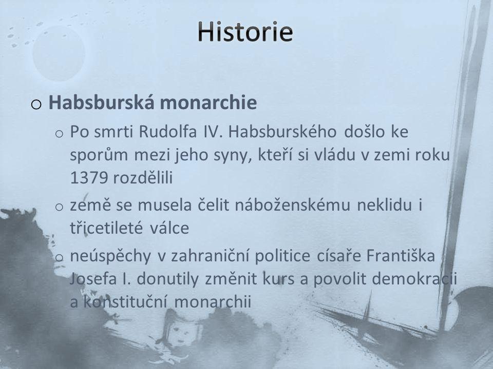 Historie Habsburská monarchie